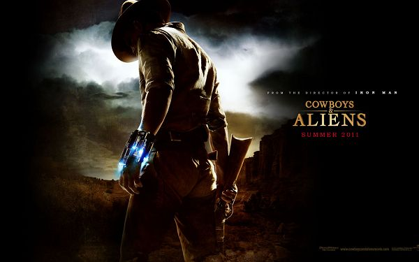 2011 Cowboys and Aliens Post in 1680x1050 Pixel, a Mysterious Man, the Surrounding Scenes Quite Fit, Shall be Great-Looking - TV & Movies Post