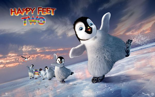 2011 Happy Feet 2 Post in 1920x1200 Pixel, Penguins Are in a Line, They Are Having Great Fun, Shall be a Great Fit - TV & Movies Post