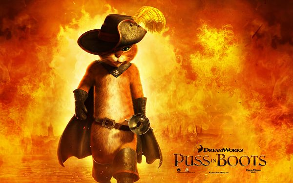 2011 Puss in Boots Available in 1920x1200 Pixel, with Boots, the Kitty is Hero-Like, Just Apply and Admire Him - TV & Movies Wallpaper