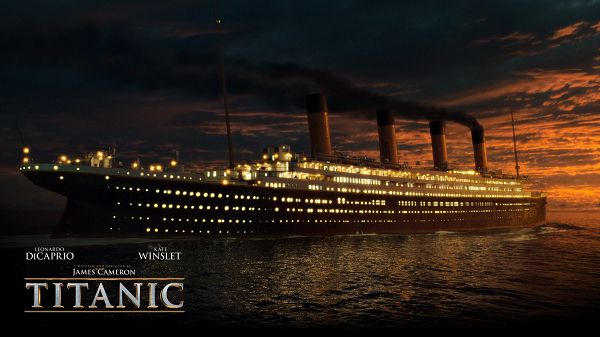 click to free download the wallpaper--2012 Titianic 3D in 1920x1080 Pixel, Ship on the Peaceful Sea, Seems to be Shinning, a Symbolizing Movie Never to be Forgotten - TV & Movies Wallpaper
