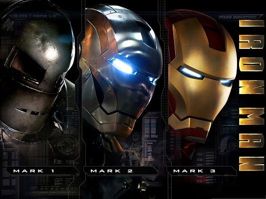click to free download the wallpaper--2013 3D Films, Iron Man Showing His Mark Evolution
