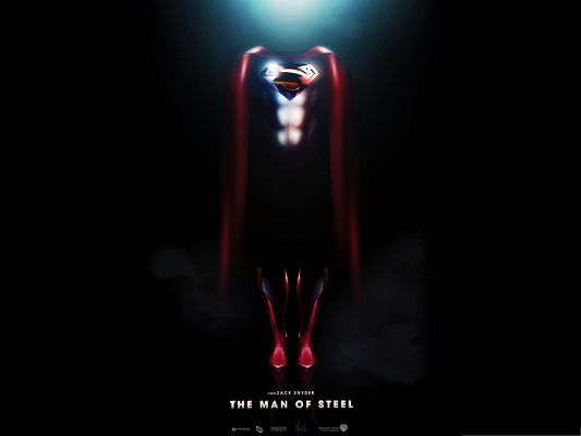 click to free download the wallpaper--2013 Best Film Poster, Man Of Steel, Superman's Exclusive Suit