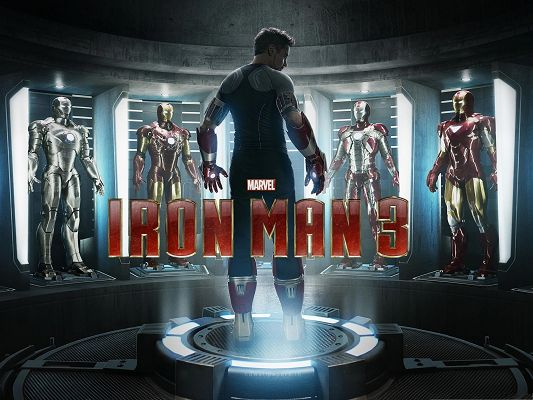 click to free download the wallpaper--2013 Best Movie, Iron Man 3, the Tough Hero About to Start His Fight