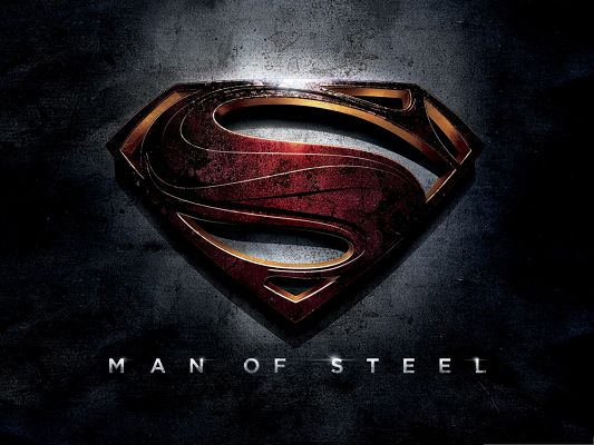 click to free download the wallpaper--2013 Best Movies Wallpaper, Man of Steel, Typical Symbol, You Know It is Him