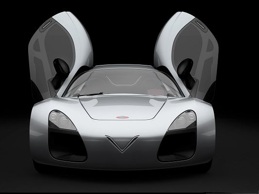 click to free download the wallpaper--3D Cars as Background, Doors Like Fully Stretched Wings, Incredible Look