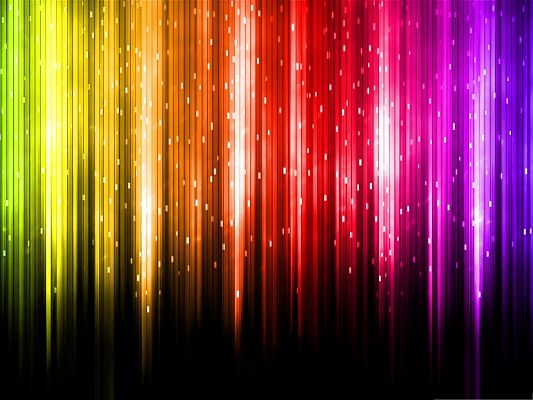 click to free download the wallpaper--3D Computer Background, Digital Rainbow in the Shine, Put Against Dark Setting