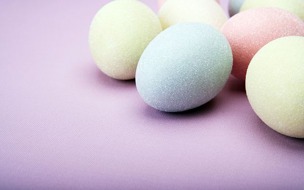 A Group Colorful Eggs, Reminding People of Halloween's Day, Purple Working as the Background - Colorful Eggs Wallpaper