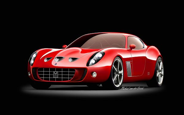A Red Ferrari Car, Incredible Speed and Comfort Can be Expected, Background is Black - HD Ferrari Wallpaper