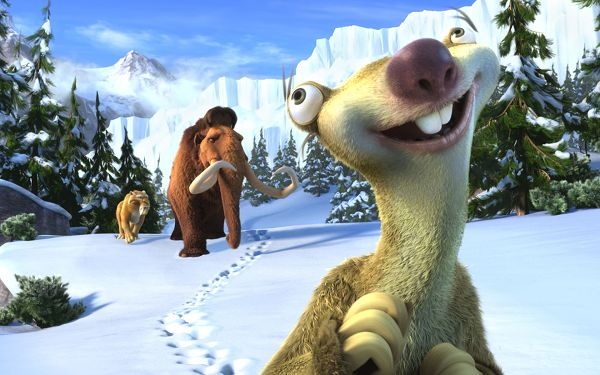 A Typical Scene in Ice Age, Going After One by One, They Shall Work Well with Each Other, a Chain of Funny Stories - HD Cartoon Wallpaper