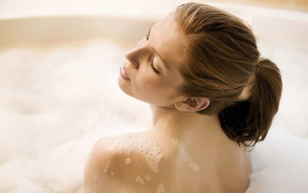 A Woman in SPA, Comfortable Enough to Fall Asleep, She is Such a Sleeping Beauty - HD SPA Widescreen Wallpaper