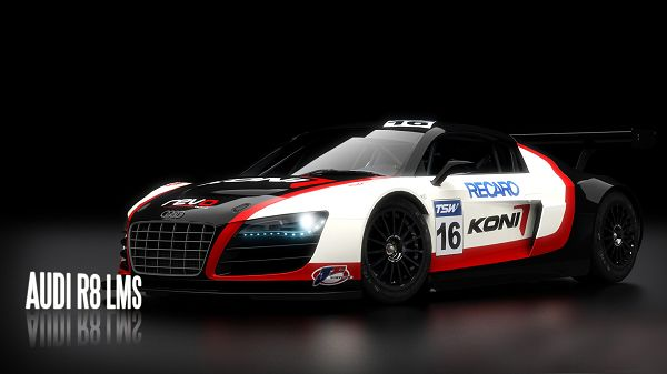 click to free download the wallpaper--AUDI R8 LMS Post in 1920x1080 Pixel, Car Impressive for Its Color Combination, Background is Simple and Incredible - HD Cars Wallpaper