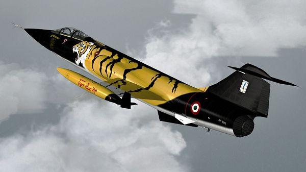 Aeroplane Show Image, Sim Skunk Works F-104S