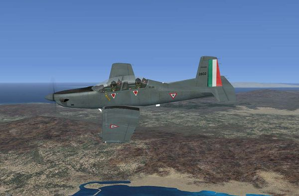 Aeroplane Show Photo, Fuerza Aerea Mexicana PC-9M in Flight