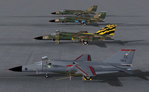 click to free download the wallpaper--Aeroplane Shows Image, F-111's Lined up on the Ground