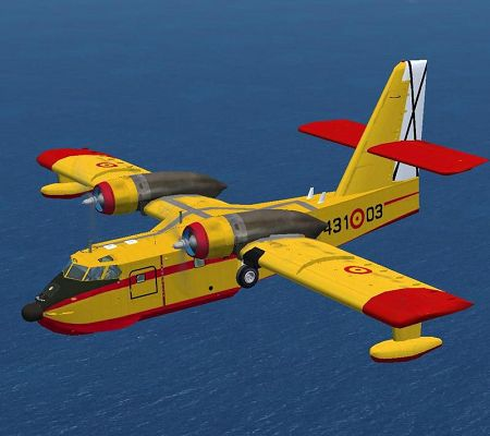 click to free download the wallpaper--Aeroplanes Show Paris, Ejercito del Aire Canadair CL-215 in Flight