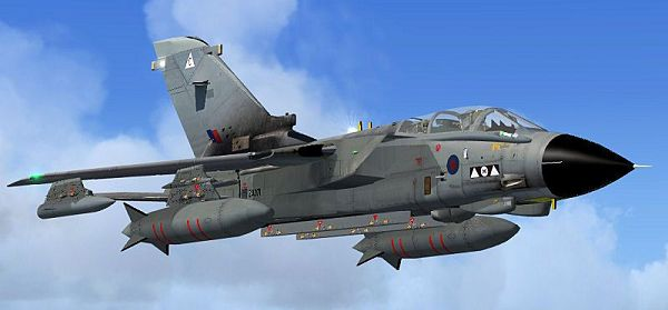 click to free download the wallpaper--Air Show Photos, Royal Air Force Tornado GR4a in Flight