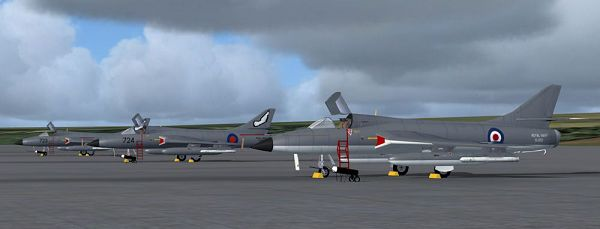 click to free download the wallpaper--Air Show Screenshot, Royal Navy Hawker Hunter T8M's on the Ground