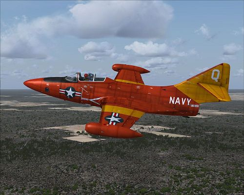 Air Show Screenshots, US Navy Grumman F9F Panther Drone in Flight