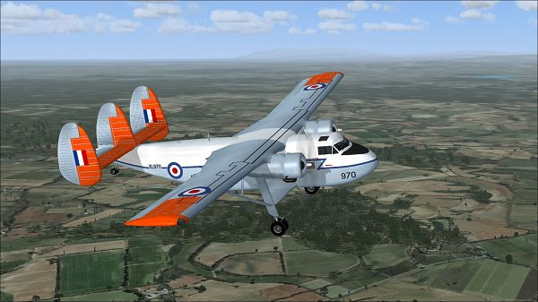 click to free download the wallpaper--Air Shows Image, RAF Twin Pioneer XL970 in Flight