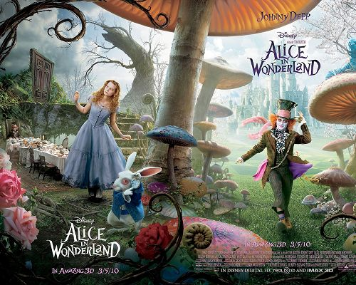 Alice in Wonderland Movie Post in 1280x1024 Pixel, All Characters Showing Up, the World is Magic and Wonderful - TV & Movies Post