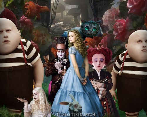 click to free download the wallpaper--Alice in Wonderland Movie Poster in 1280x1024 Pixel, All Characters Showing Up, Welcome to the Mysterious and Wonderful World - TV & Movies Post