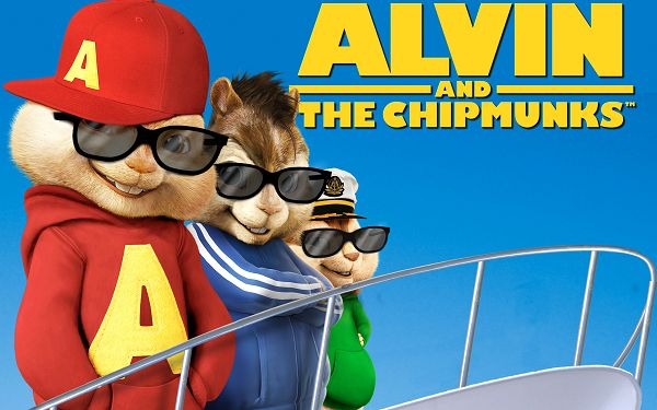 click to free download the wallpaper--Alvin And The Chipmunks Chipwrecked in 2560x1600 Pixel, All Three in Glasses and Casual T-Shirt, Shall Attract Lots of Girls' Attention - TV & Movies Wallpaper