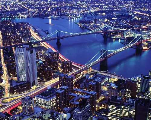 Amazing City Scene, Every Light is On, Busy City, It Presents Another Kind of Beauty