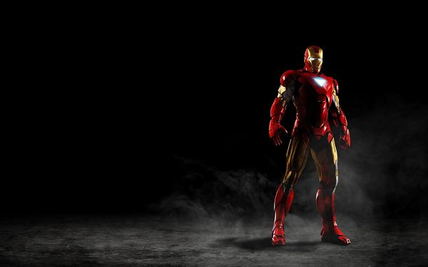 click to free download the wallpaper--Amazing Iron Man in 1920x1200 Pixel, a Tough Man Standing in Darkness, He is Ready for the Final Fight - TV & Movies Wallpaper