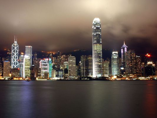 click to free download the wallpaper--Amazing Landscape of the World, Hong Kong at Night, Impressive Scenery