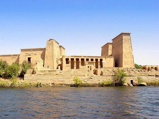 Amazing Landscape of the World, Karnak Egypt by the Seaside, Magnificent Scene