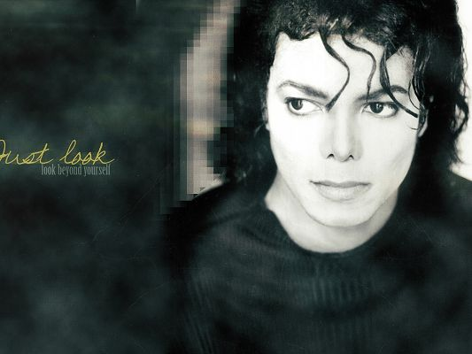 click to free download the wallpaper--Amazing Pic of Super Stars, Michael Jackson, Look Beyond Yourself, You Become New