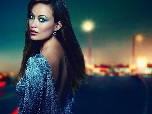 Amazing TV Shows Post, Beautiful and Elegant Olivia Wilde, Long Black Hair