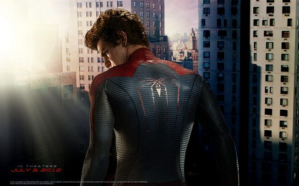 click to free download the wallpaper--Andrew Garfield as Spider Man in 1680x1050 Pixel, the Sun is Rising, the Figure of the Man is More Emphasized - TV & Movies Wallpaper