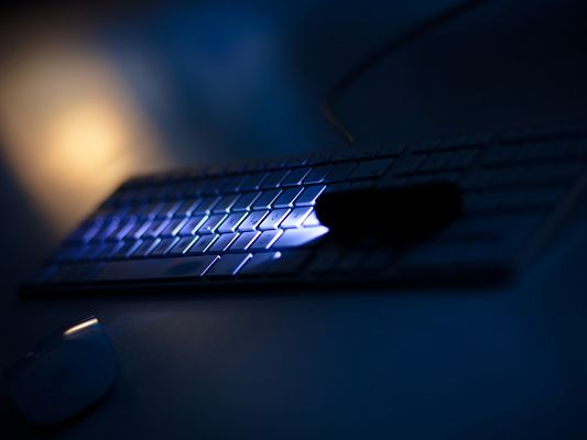 Apple Porduct Images, Apple Keyboard in a Dark Scene, You Can't be Wrong in Typing