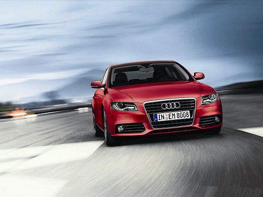 click to free download the wallpaper--Audi A4 Post in Pixel of 1600x1200, a Red and Attractive Car, Speed is Attached with Priority, It Shall be a Great Fit - HD Cars Wallpaper