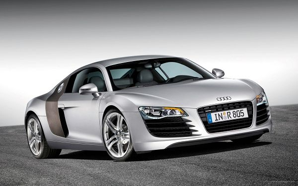 Audi R8 HD Post in Pixel of 1920x1200, a Gray Decent Car Running on a Black Road, Speed and Driving Experience Must be Incredible - TV & Movies Post
