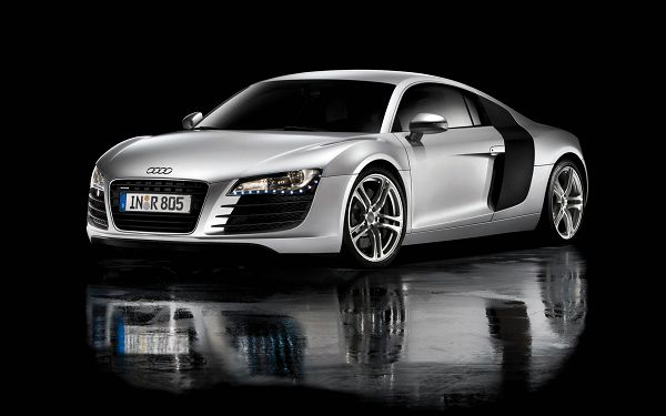 Audi R8 Post in Pixel of 1920x1200, Decent Car Running in Water, an Unbelieveable Scene, It Shall Look Good on Multiple Devices - HD Cars Wallpaper