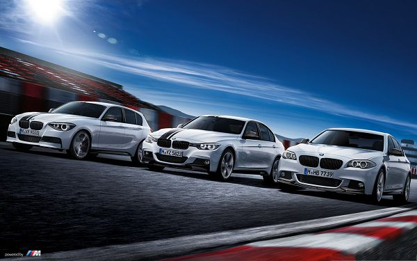 BMW AG Cars Wallpaper, Three Silver Cars Outdoor, Under the Blue Sky