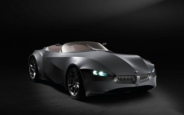 click to free download the wallpaper--BMW Gina Concept Post in Pixel of 1920x1200, Gray Car Under Spotlight, Lights Are All on, Looking Decent and Luxurious - HD Cars Wallpaper