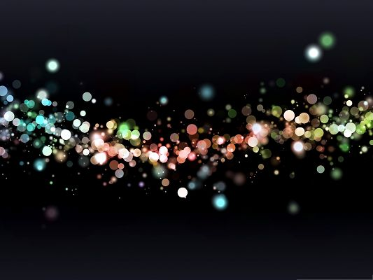 click to free download the wallpaper--Background Wallpaper for Computer, Colored Particles, Dreamy Scenery