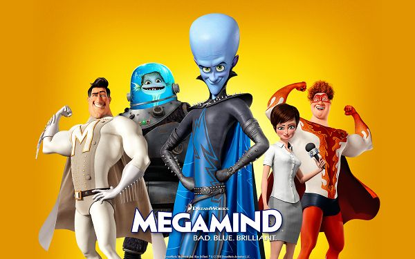 click to free download the wallpaper--Bad Blue Megamind Post in 1920x1200 Pixel, All Strong and Powerful Guys, Should be Paid Great Respect - TV & Movies Post