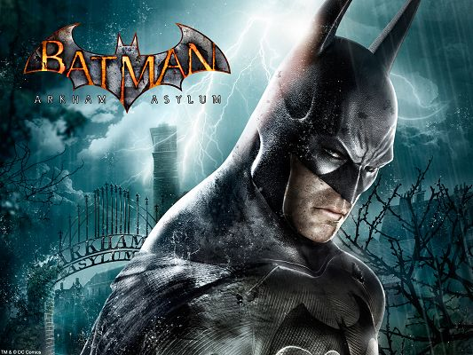 click to free download the wallpaper--Batman Arkham Asylum HD Post in Pixel of 1600x1200, a Man in Serious Look, He is Hard to Believe, Shall Look Good on Your Device - TV & Movies Post