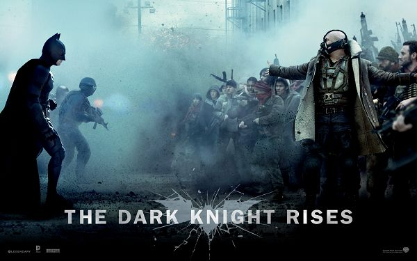 click to free download the wallpaper--Batman Film The Dark Knight Rises in High Quality and Resolution, Two Men in Severe Fight, Who Will be the Winner? - TV & Movies Wallpaper