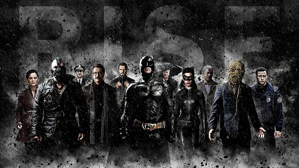 click to free download the wallpaper--Batman Trilogy in 1920x1080 Pixel, Caught in a Heavy Rain, Will Never Step Back, They Are About to Rise, Looking Good on Your Device - TV & Movies Wallpaper
