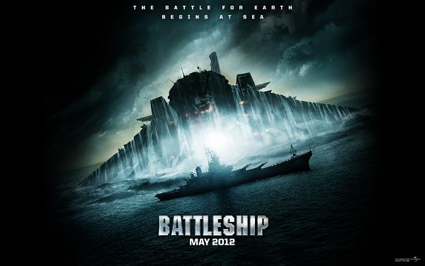 click to free download the wallpaper--Battleship 2012 in 1920x1200 Pixel, an Enormous and Lighted up Ship, When Will It Rain? - TV & Movies Wallpaper