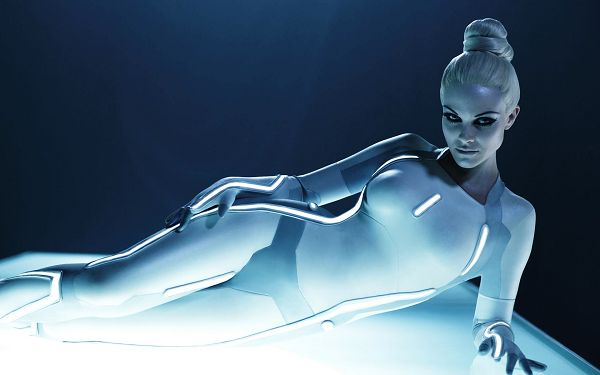 Beau Garrett Tron Legacy 2010 Post in 1920x1200 Pixel, the Robot-Like Girl is Indeed Hot and Appealing, Cosmetics is Thick Enough - TV & Movies Post