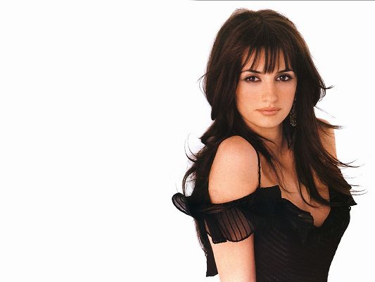 click to free download the wallpaper--Beautiful Artists Poster, Penelope Cruz in Sexy Tight Dress, She is the Goddess