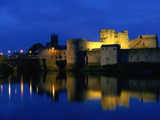 Beautiful Landscape of the World, King John's Castle by the Side of Seaside, the Blue Sky