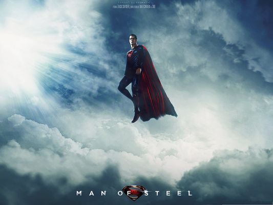 Best Film Poster, Man Of Steel, Superman Up in the Sky, Close to the Sun