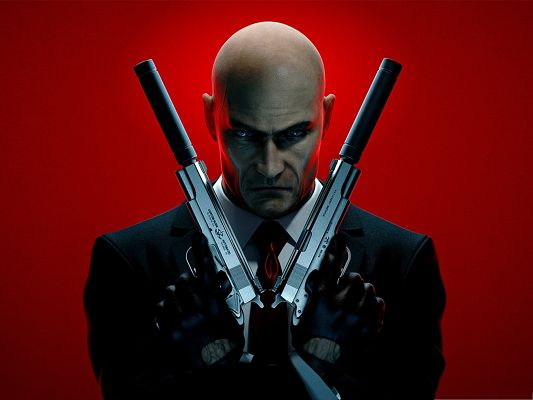 click to free download the wallpaper--Best Game Posts, Hitman Absolution, Man Armed to Teeth